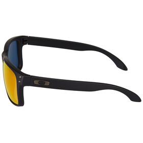 Oakley Holbrook matte black/ruby iridium polarized